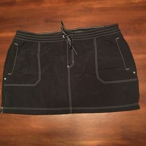 Land's End nylon swim skirt.